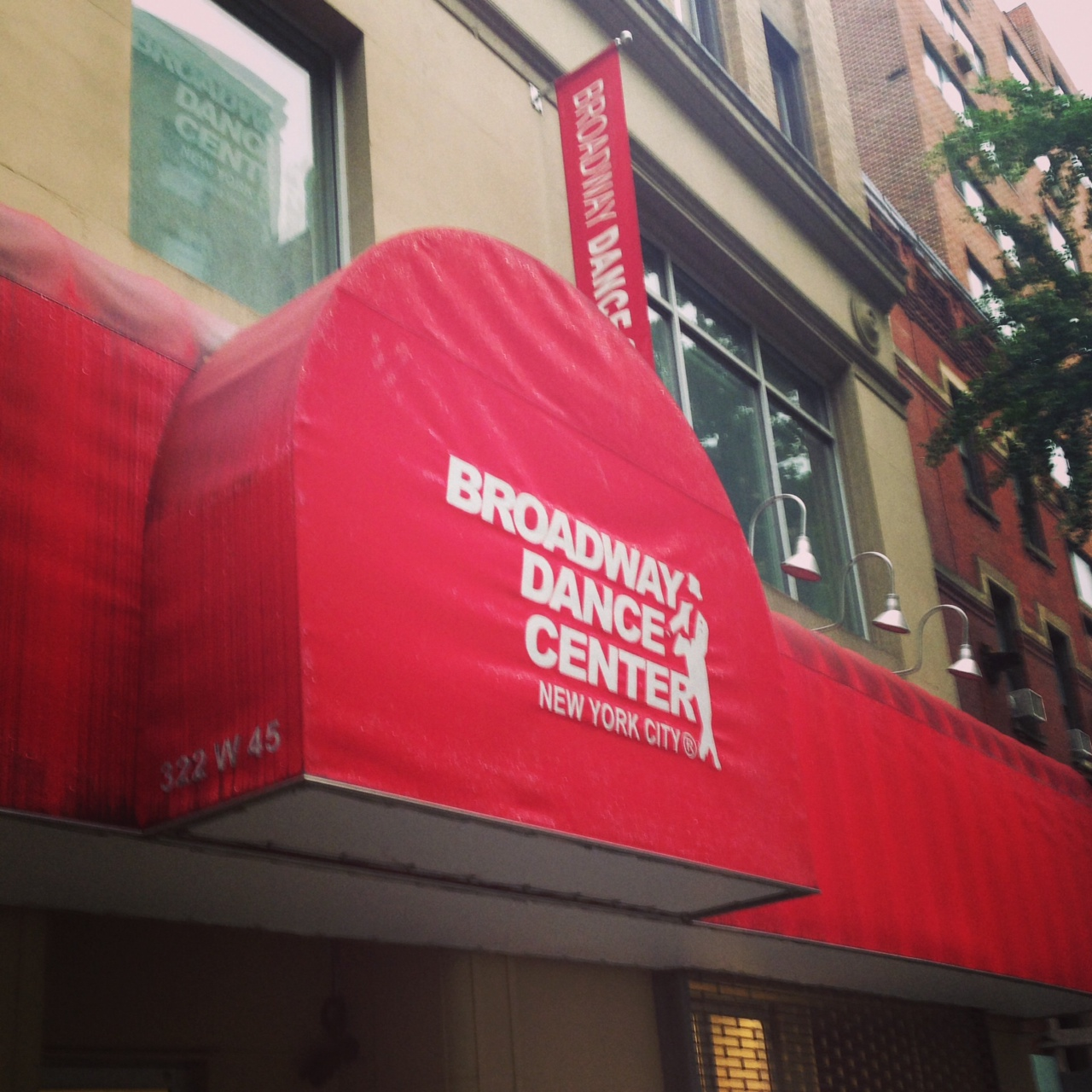 sign outside Broadway Dance Center