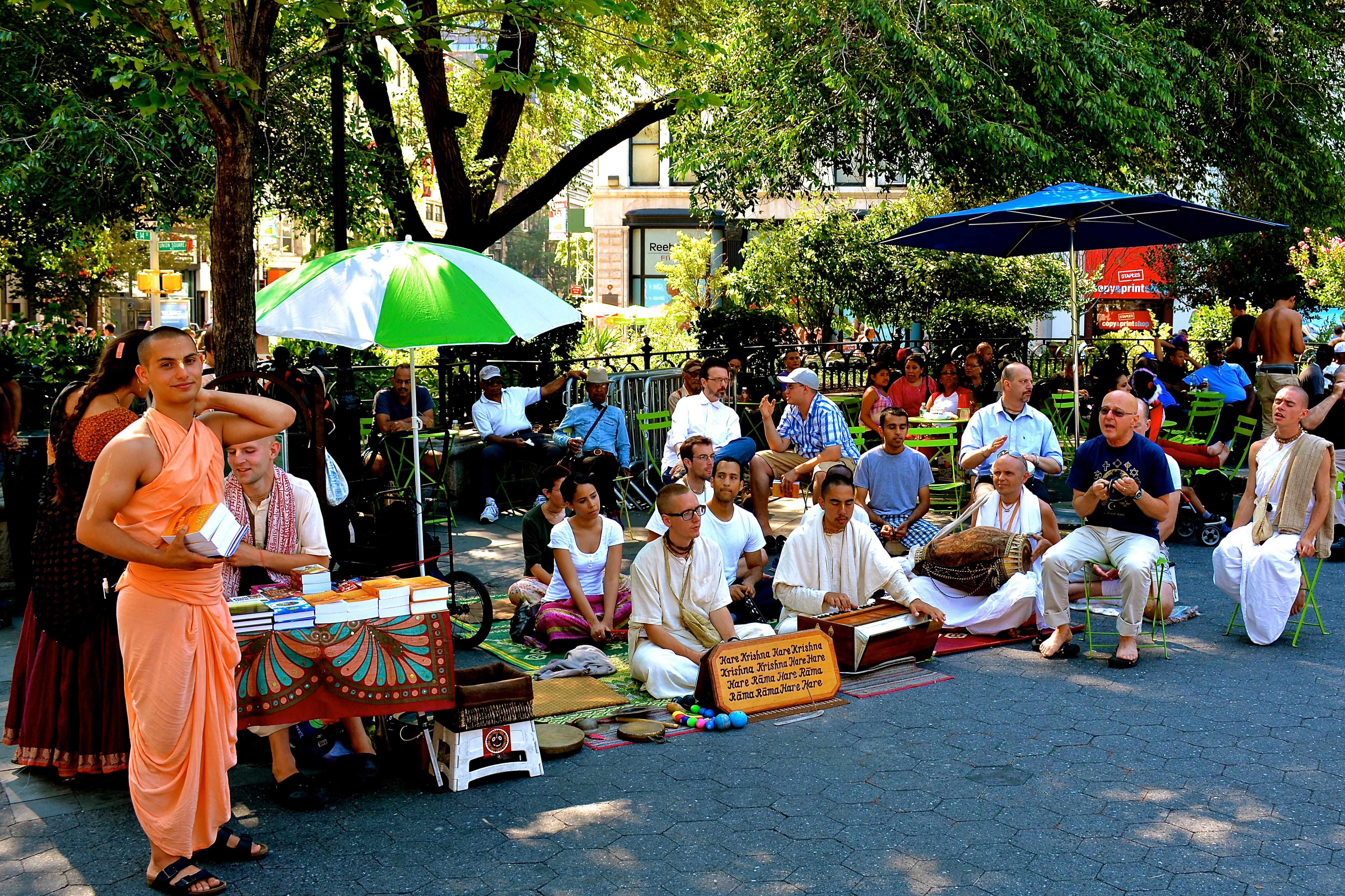 Hare Krishnas in Union Square, New York