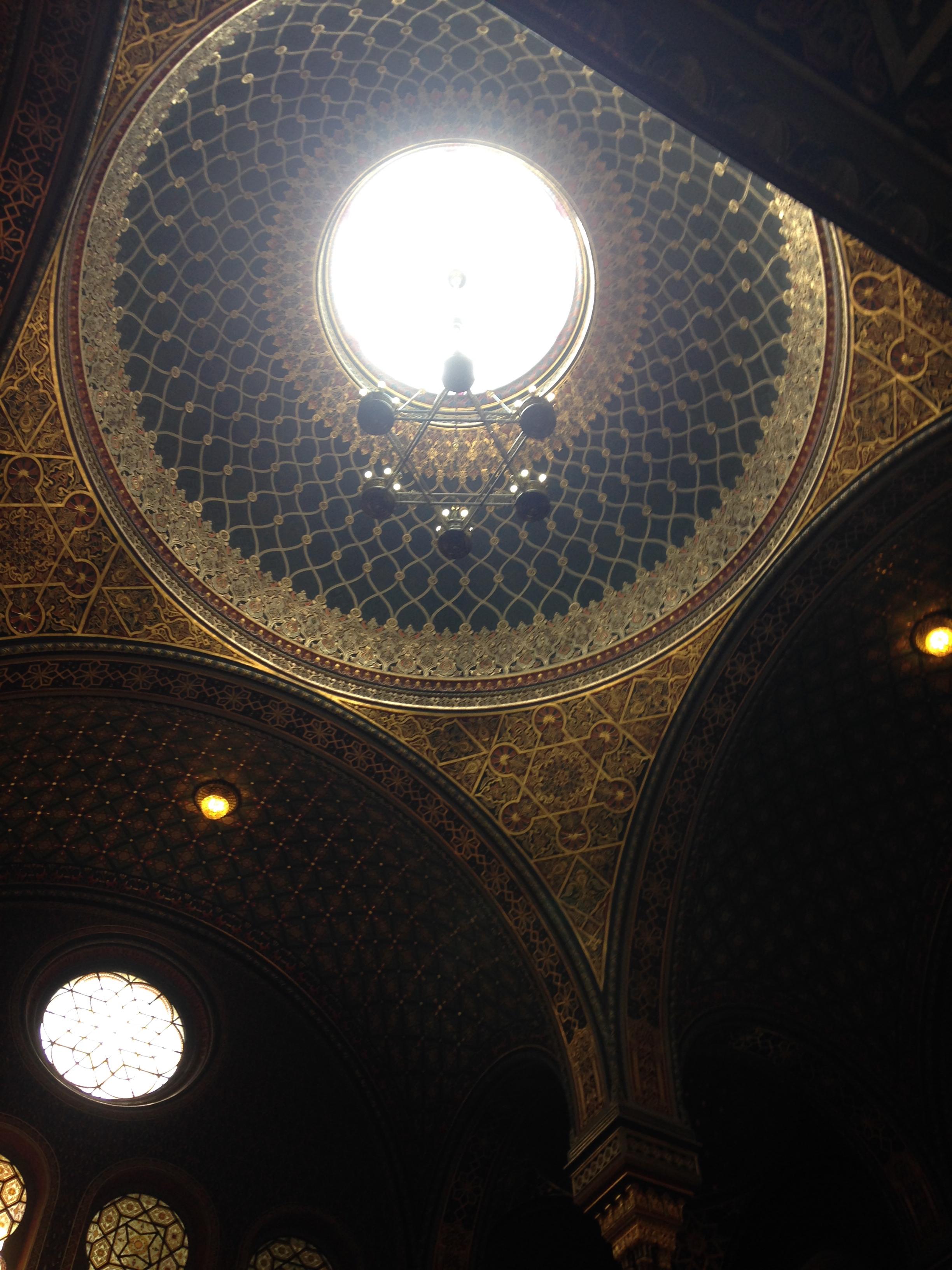 ceiling of Prague's Spaish Synagogue