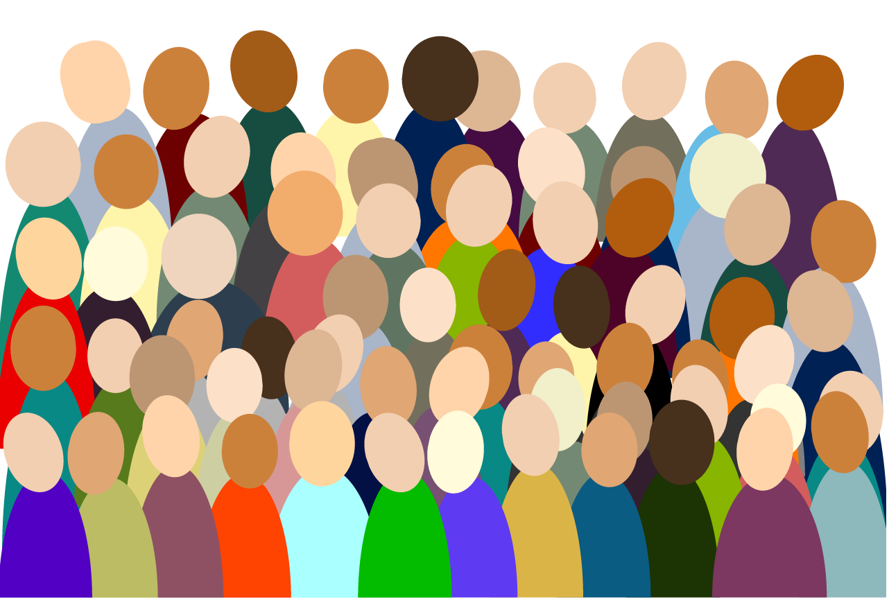 artistic representation of a crowd of people