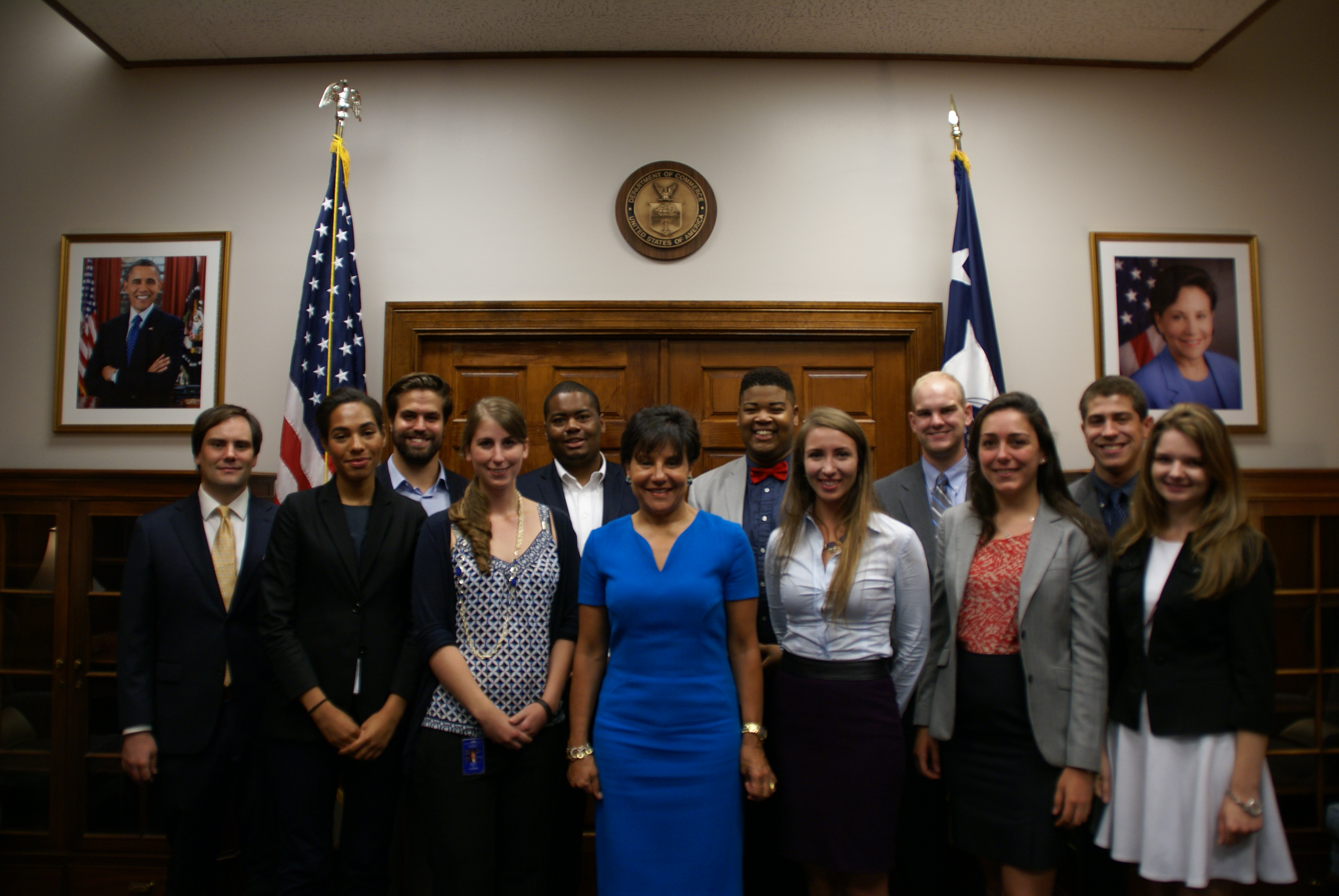 group of people with Department of Commerce Secretary Penny Pritzker