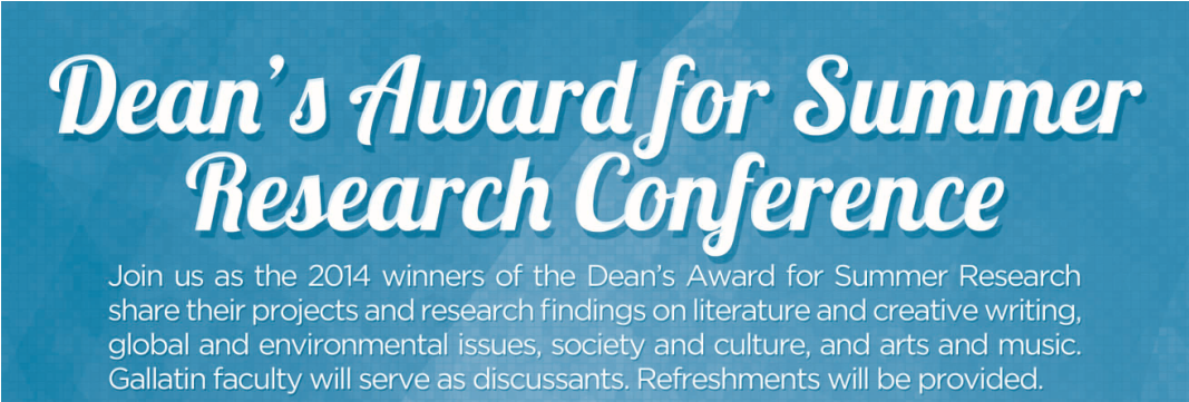 information for Dean's Award for Summer Research Conference