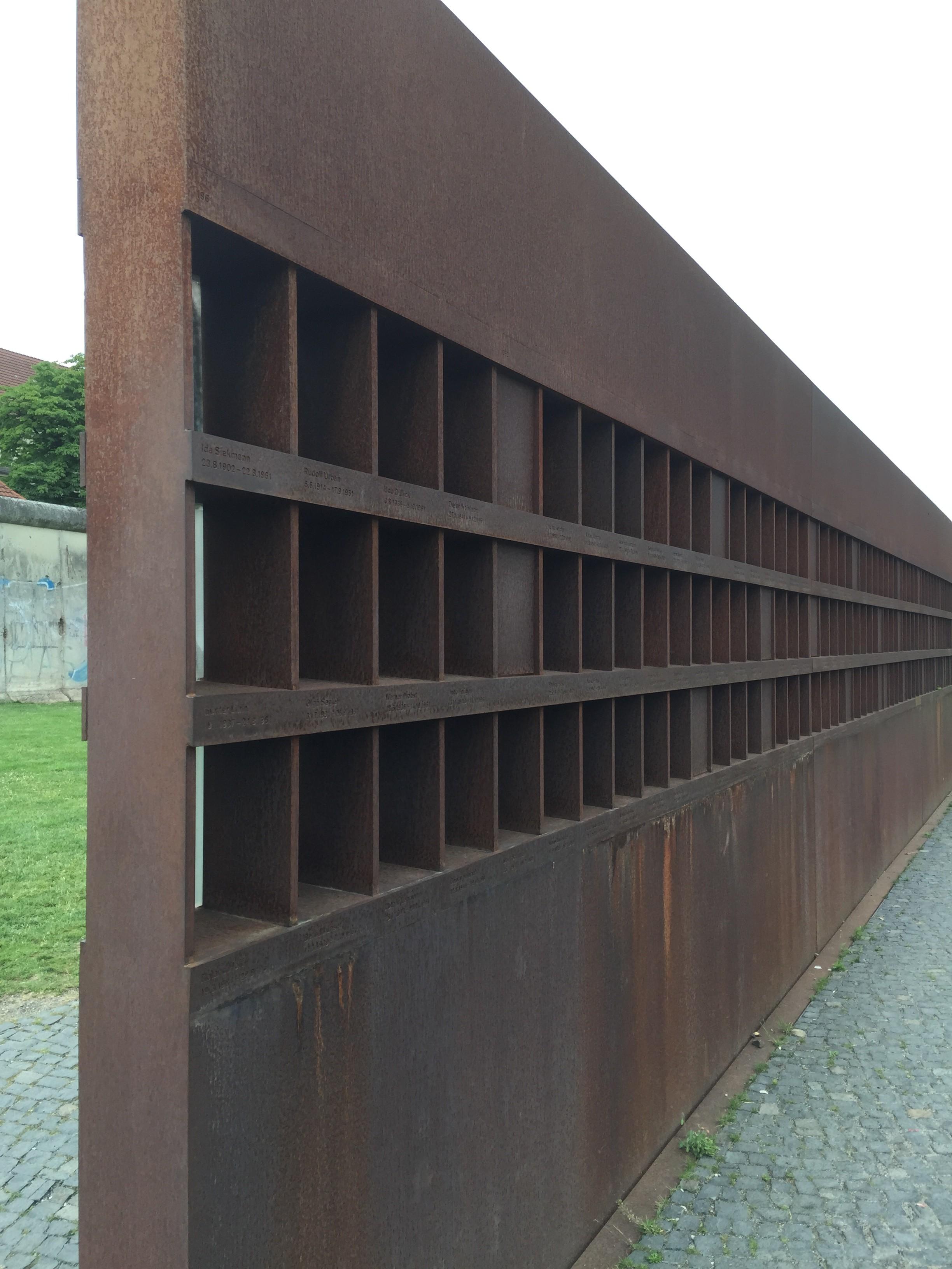 part of Berlin Wall Memorial