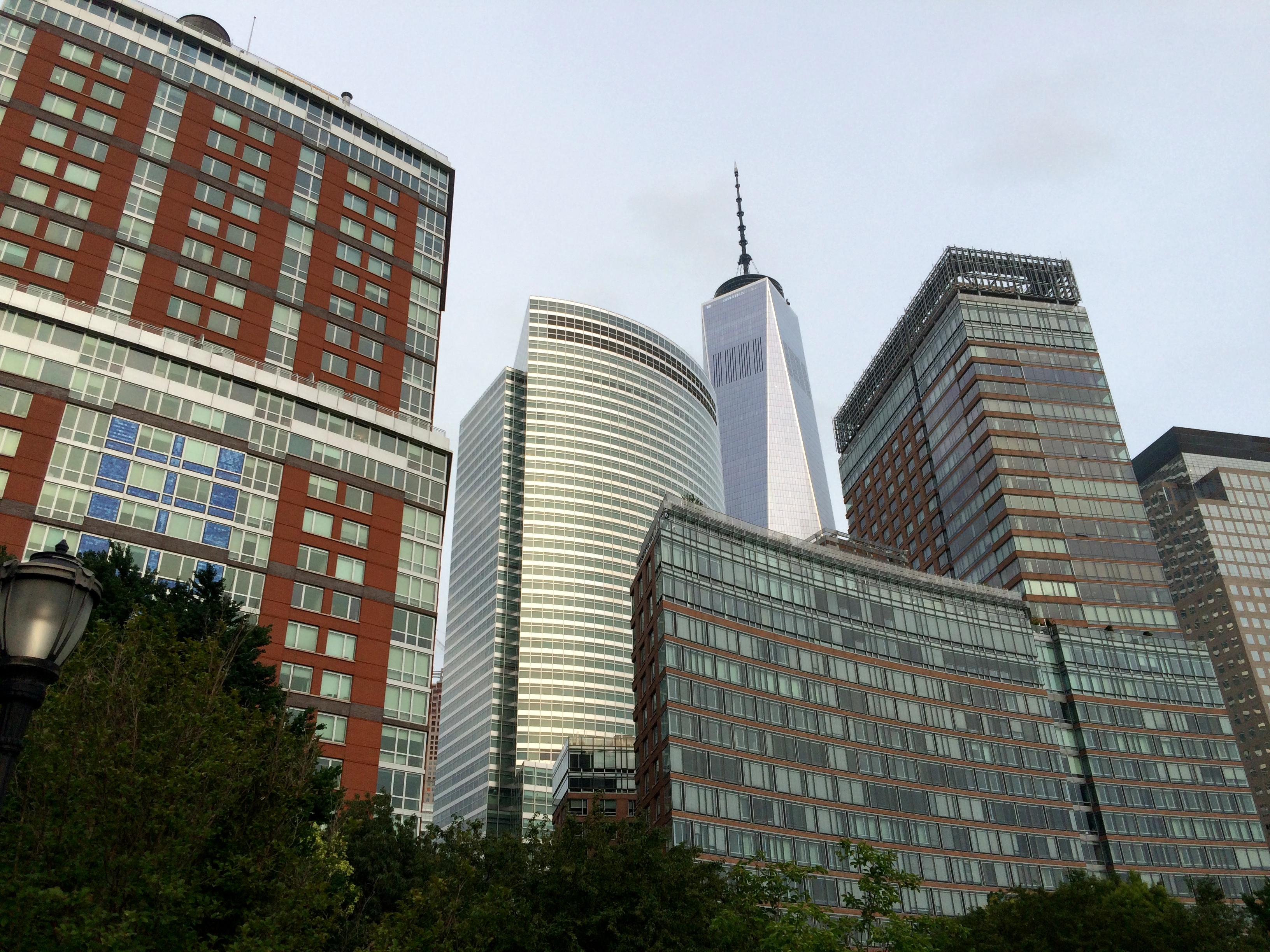buildings in lower Manhattan, including World Trade Center
