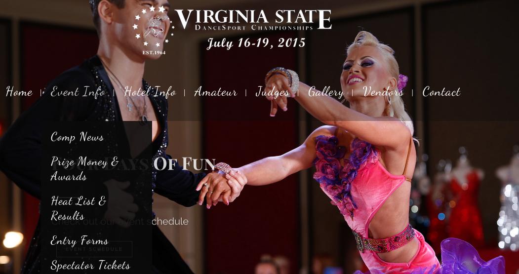 screenshot for Virginia State Dancesport Championship