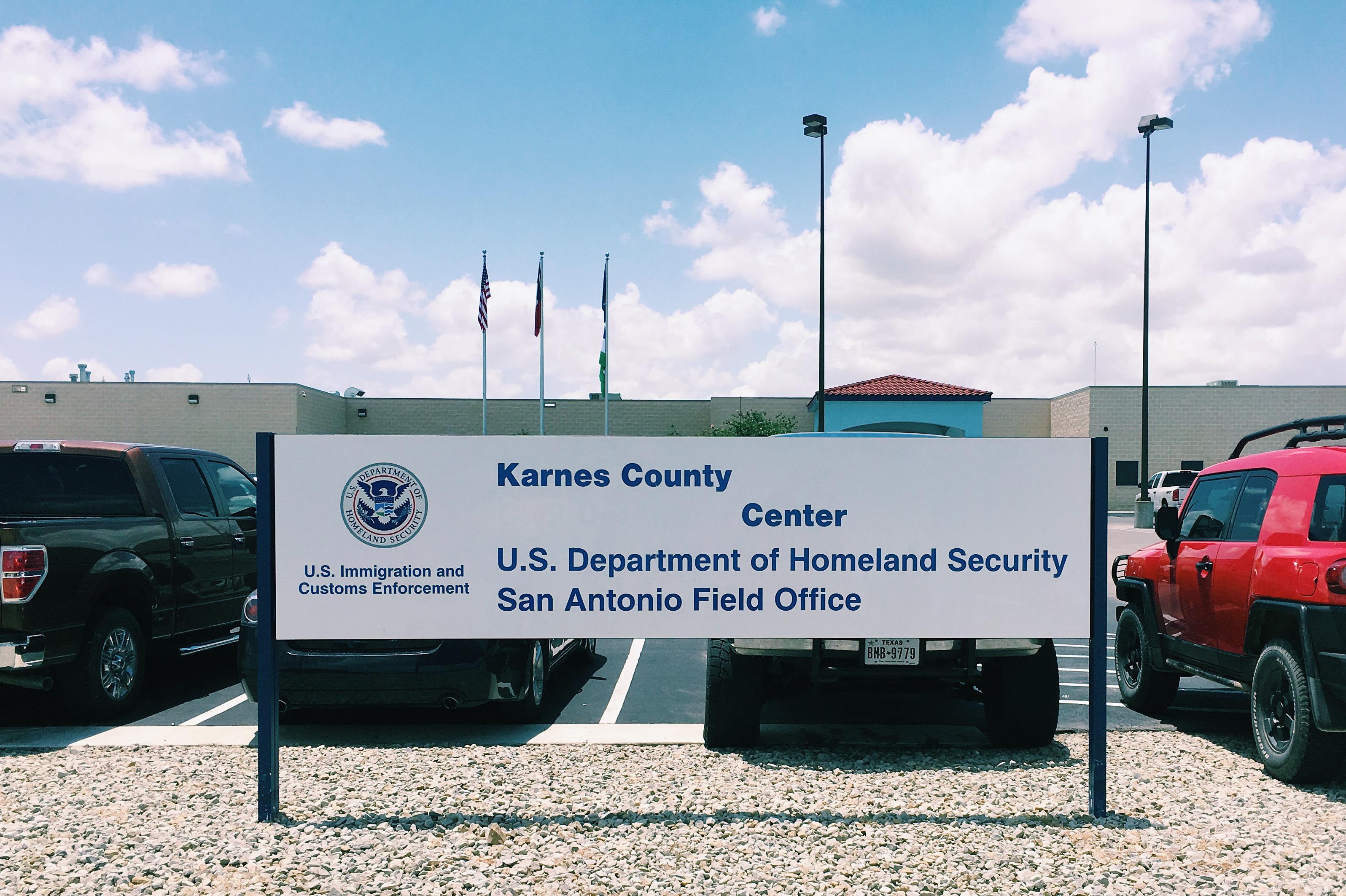 sign for Karnes County Center