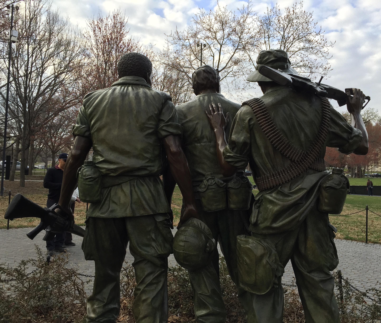 """The Three Servicemen"" at the Vietnam Veterans Memorial, Washington D.C. statue"