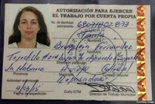 Cuban work card