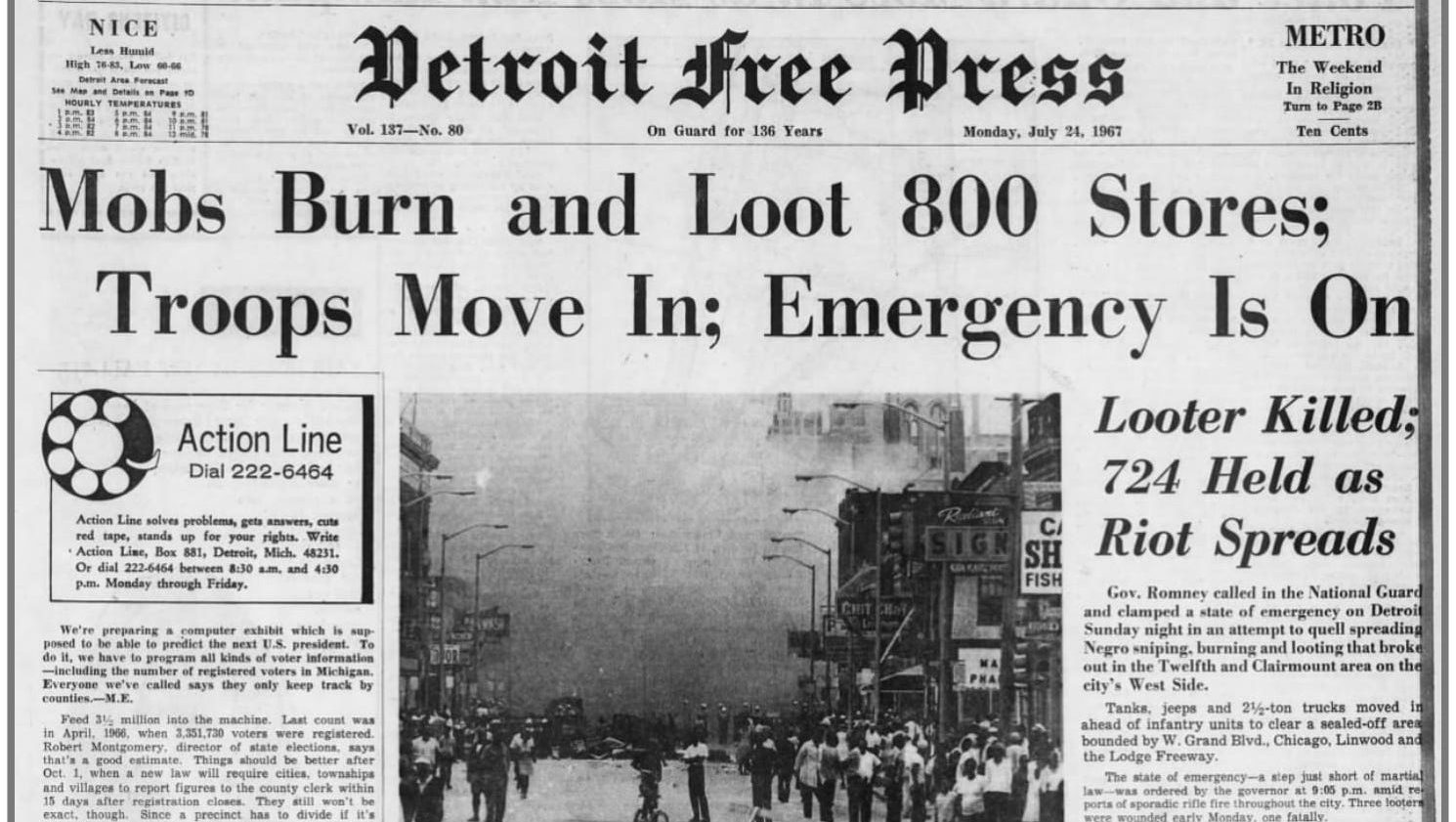 Detroit Free Press from 1967