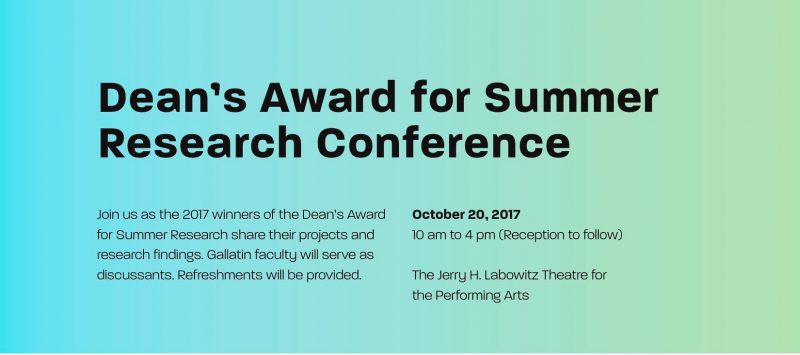 Dean's Award for Summer Research Conference info
