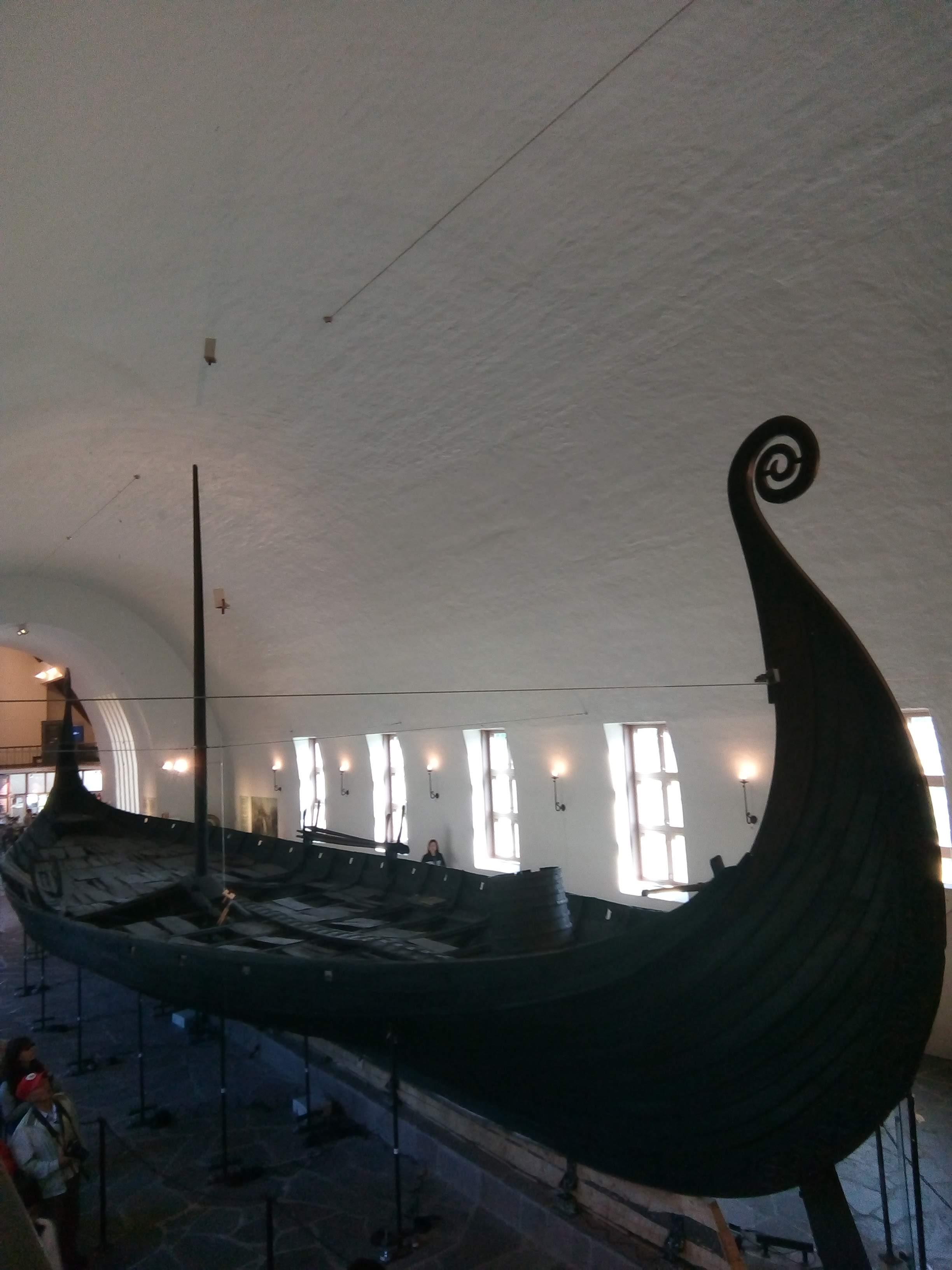Ship replica in building