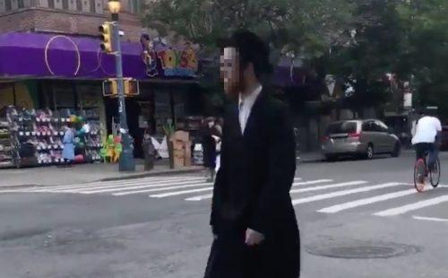 Hasidic Jewish Man walking